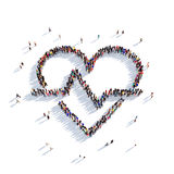 Herz Leute 3d des Herzens Stockfotos