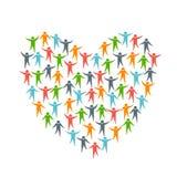Herz-Liebe durch Leute Stockfoto