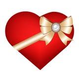 Herz lokalisiert auf weißem Hintergrund Stockbilder