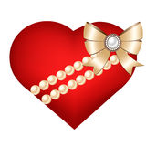 Herz lokalisiert auf weißem Hintergrund Lizenzfreie Stockfotografie