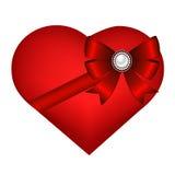 Herz lokalisiert auf weißem Hintergrund Stockbild