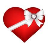 Herz lokalisiert auf weißem Hintergrund Stockfotos