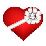 Herz lokalisiert auf weißem Hintergrund Stockfotografie