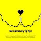 Herz, medizinische Flaschenchemie der Liebe Lizenzfreie Stockbilder
