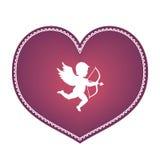 Herz mit Amor Lizenzfreies Stockbild