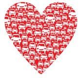 Herz mit Autos lizenzfreie abbildung