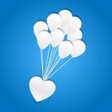 Herz mit Ballonen - Papierschnittdesign Lizenzfreie Stockfotos