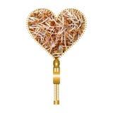 Herz mit Bockshornkleesprösslingen Stockbild