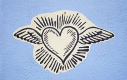 Herz mit Flügeln Stockbild