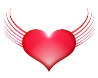 Herz mit Flügeln Stockfotografie