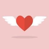 Herz mit Flügeln Stockfotos