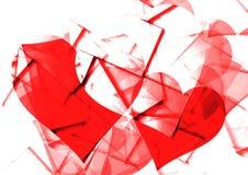 Herz mit grafischem Hintergrund Stockbilder