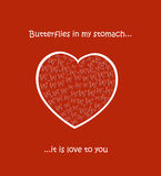 Herz mit Schmetterlingen Stockbilder