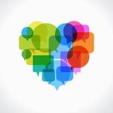 Herz mit Spracheblasen Stockfotos