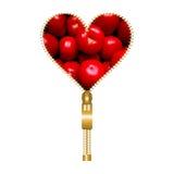 Herz mit Tomaten Stockfotografie