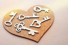 Herz mit vielen Schlüsseln Stockfotos