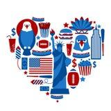 Herz New York USA stock abbildung