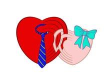 Herz-Paare Stockfoto