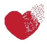 Herz-Pixel Lizenzfreies Stockbild