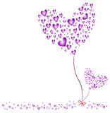 Herz-purpurroter Valentinsgruß-Tag Lizenzfreie Stockfotos