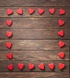 Herz-Rahmen-Hintergrund Lizenzfreies Stockfoto
