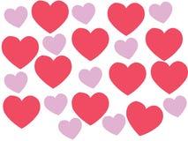 Herz schwillt wegen der Liebe stock abbildung