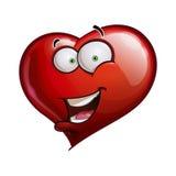 Herz stellt glückliche Emoticons - hallo gegenüber stock abbildung