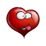 Herz stellt glückliche Emoticons - I wirklich wie Sie gegenüber lizenzfreie abbildung