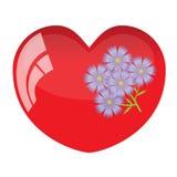 Herz und Blume. Stockfotografie