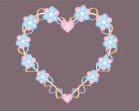 Herz und Blumen Lizenzfreies Stockfoto
