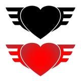 Herz und Flügel Stockfoto
