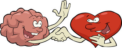 Herz und Gehirn Stockbilder