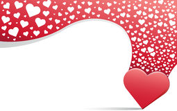 Herz und rote Linie Hintergrund Stockfotografie