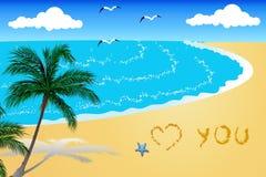 Herz und Sand Lizenzfreie Stockfotos