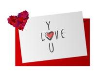 Herz und Stift Stockfoto