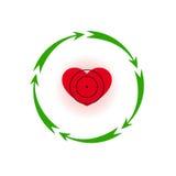 Herz unter einem Anblick Stockbilder