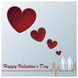 Herz Valentine Greeting Card Design Lizenzfreies Stockfoto