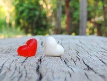 Herz, Valentinsgrußhintergrund Stockfotografie