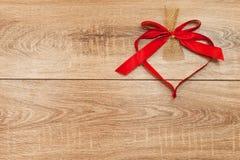 Herz vom roten Band Stockbild