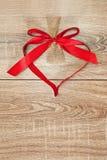 Herz vom roten Band Lizenzfreie Stockbilder