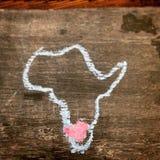 Herz von Afrika Stockbilder