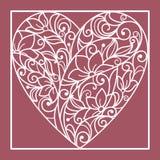 Herz von Blumen Stockfotos