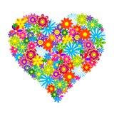 Herz von Blumen Lizenzfreies Stockfoto