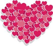 Herz von den kleineren Herzen Lizenzfreie Stockbilder