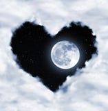 Herz von den Wolken lizenzfreie stockbilder
