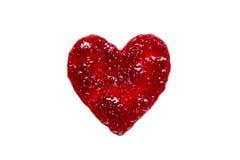 Herz von der Himbeermarmelade lizenzfreies stockfoto