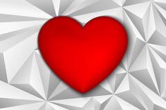 Herz von Dreiecken Lizenzfreie Stockfotos