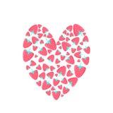 Herz von Erdbeeren Lizenzfreie Stockbilder