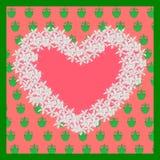 Herz von flowerson die Tapete Auch im corel abgehobenen Betrag Lizenzfreie Stockfotografie