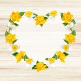 Herz von Frühlingsblumen Lizenzfreies Stockfoto